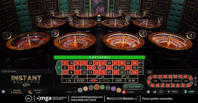 Instant Roulette Live, gioco premium su Zet Casinò